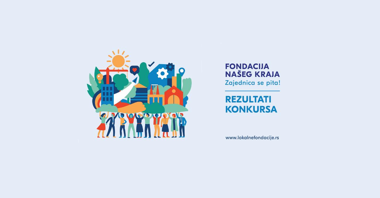"""Objavljeni rezultati konkursa za program """"Fondacija našeg kraja"""" u Srbiji! - Trag fondacija"""