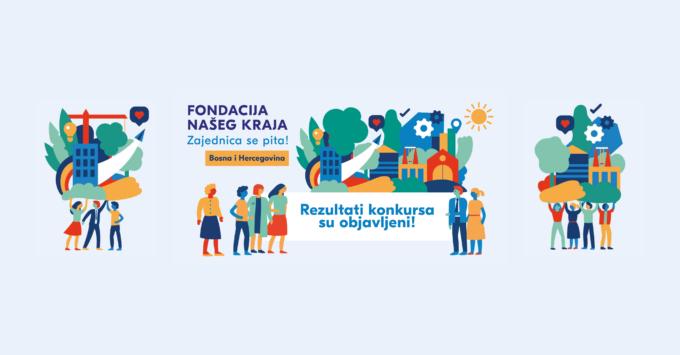 Rezultati konkursa za program Fondacija našeg kraja u BiH